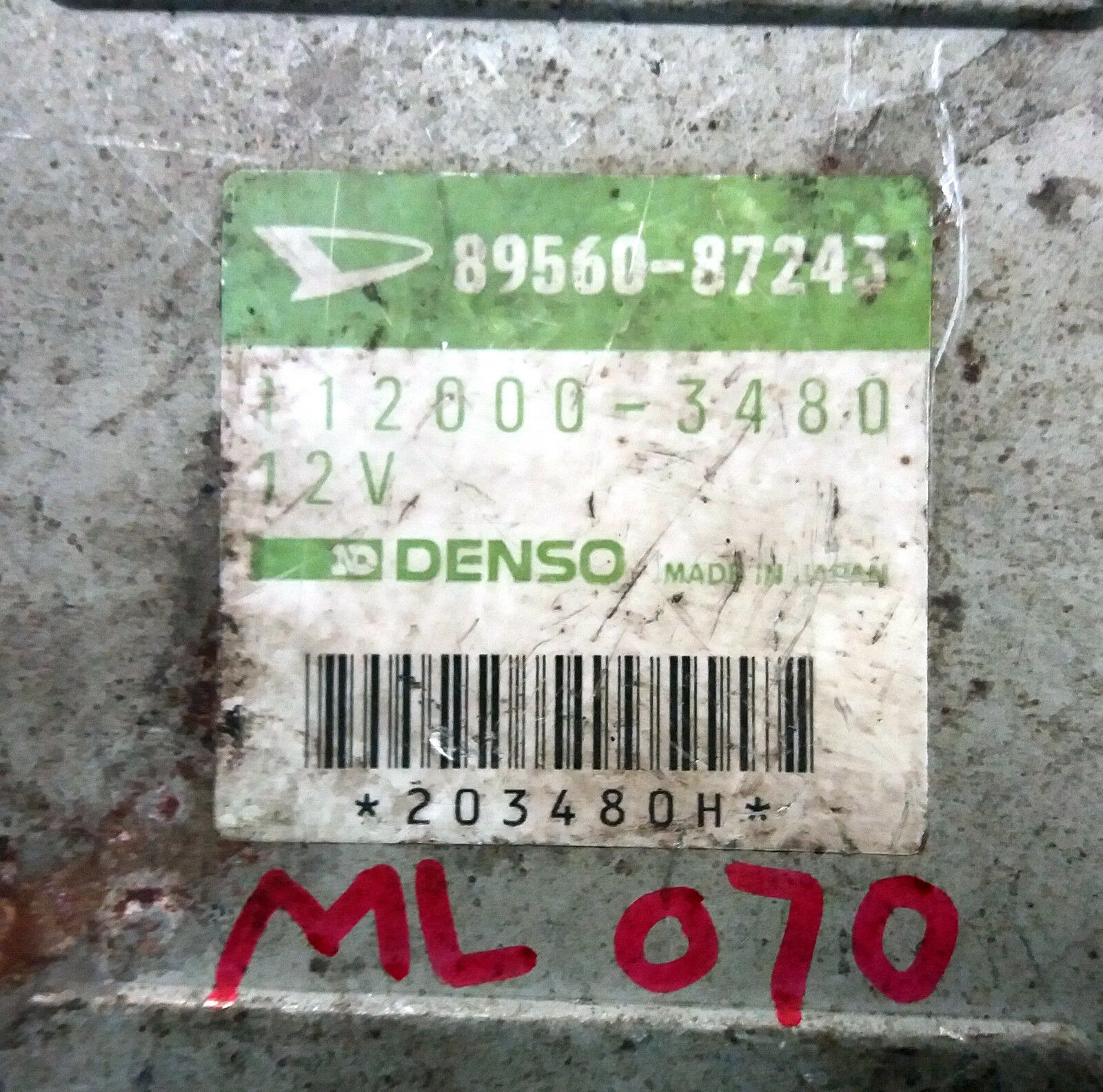 Used Daihatsu Computers And Cruise Control Parts For Sale Page 2 Mira L200s Wiring Diagram 89560 87243 Ecu Ecm Oem Jdm 8956087243