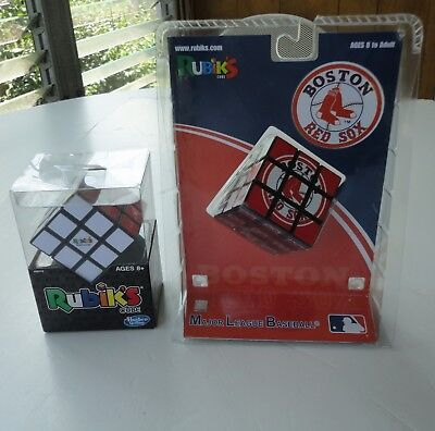 2 Sealed New 2005 MLB Boston Red Sox Rubik's Cube Sababa 01051 & 2014 Faster Act