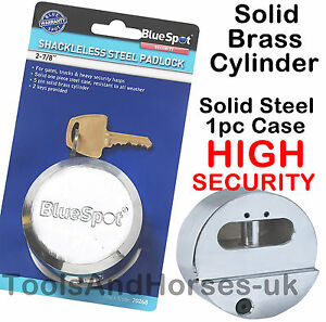 73mm Round Shackless Padlock Heavy Duty Van Lock High Security Round Padlock