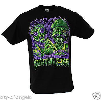 Cheech and Chong Marijuana Zombie Adult Men's Funny Humor 420 Weed Joke T Shirt