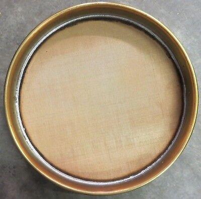 Fisher Mesh Brass Sieve 12 Hgt No. 80