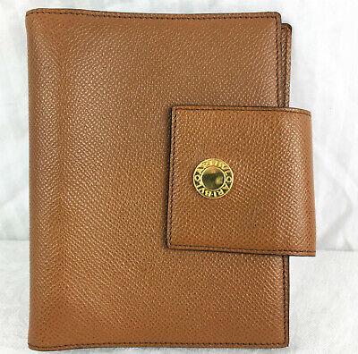 Tan Bvulgari Bulgari Address Book Binder Agenda Brown Pebble Leather