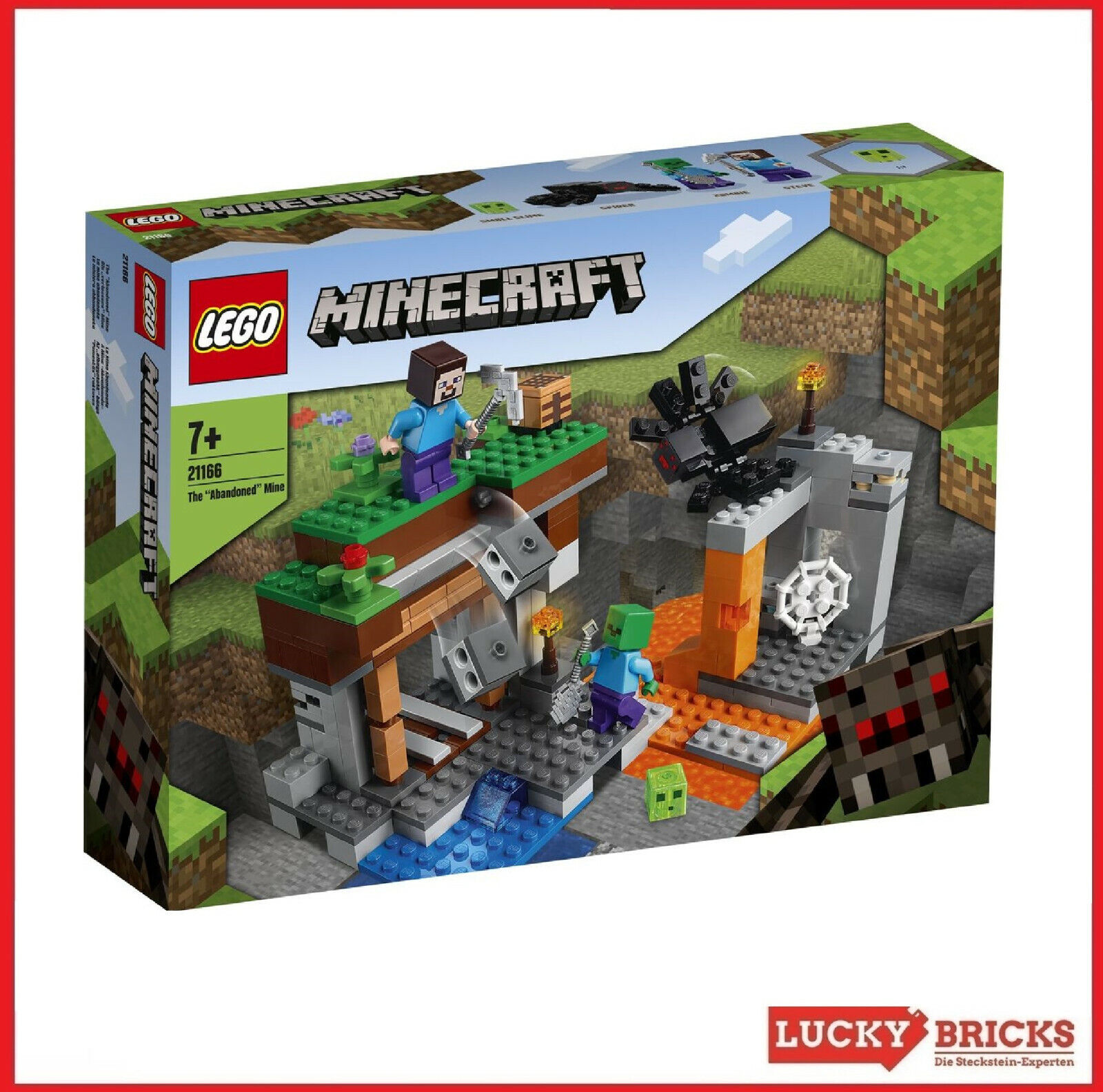 LEGO® Minecraft™ - 21166 Die verlassene Mine + NEU & OVP +