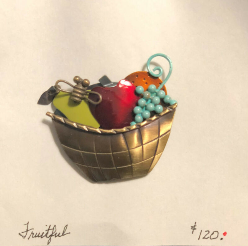 "Chickenscratch Jewelry ""Fruitful"" Pin by Lisa & Scott Cylinder"