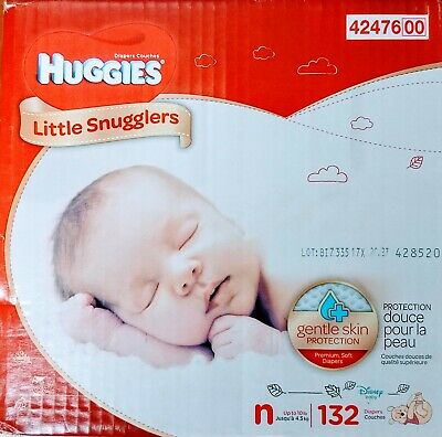 Huggies Little Snugglers Baby Diapers, Size Newborn - 132 Count