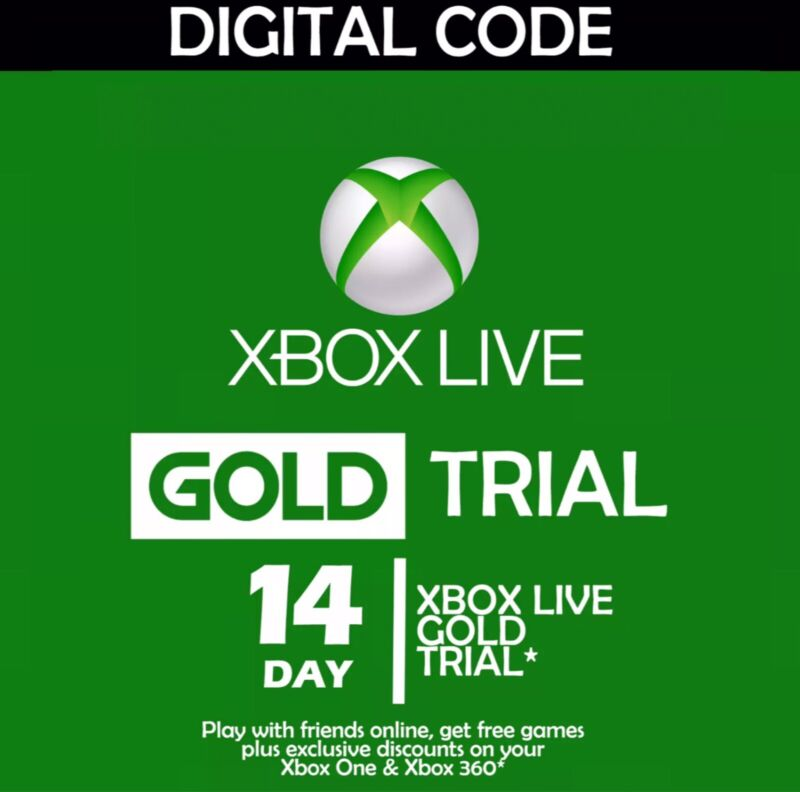 Official Microsoft Xbox Live 14 Day Trial USA SELLER