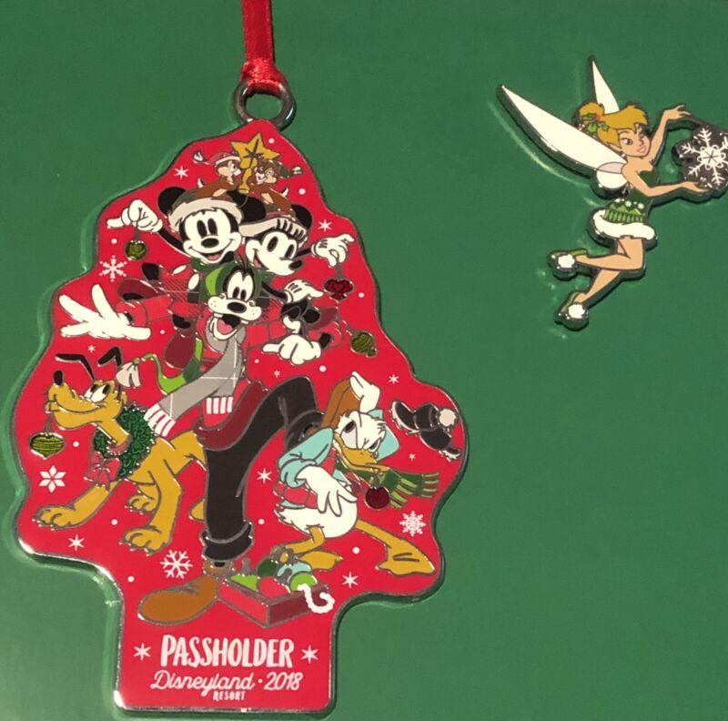 Disney Holiday Ornament Set AP PASSHOLDER LE 500 Mickey TInkerbell Christmas