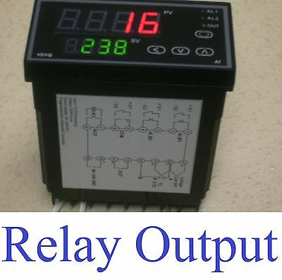 Pid Programmable Temperature Controller Ramp Soak Kiln 50 Setpoints Relay Output