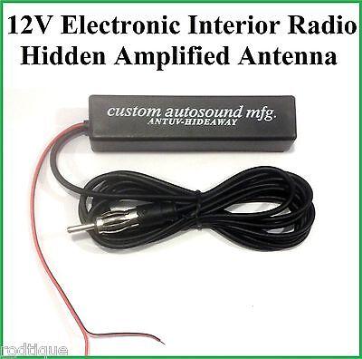 12v Electronic Interior Stereo AM FM Radio Hidden Amplified Antenna Car Truck 2