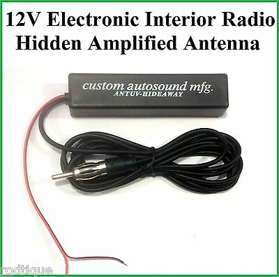 12v Electronic Interior Stereo AM FM Radio Hidden Amplified Antenna Car Truck 1