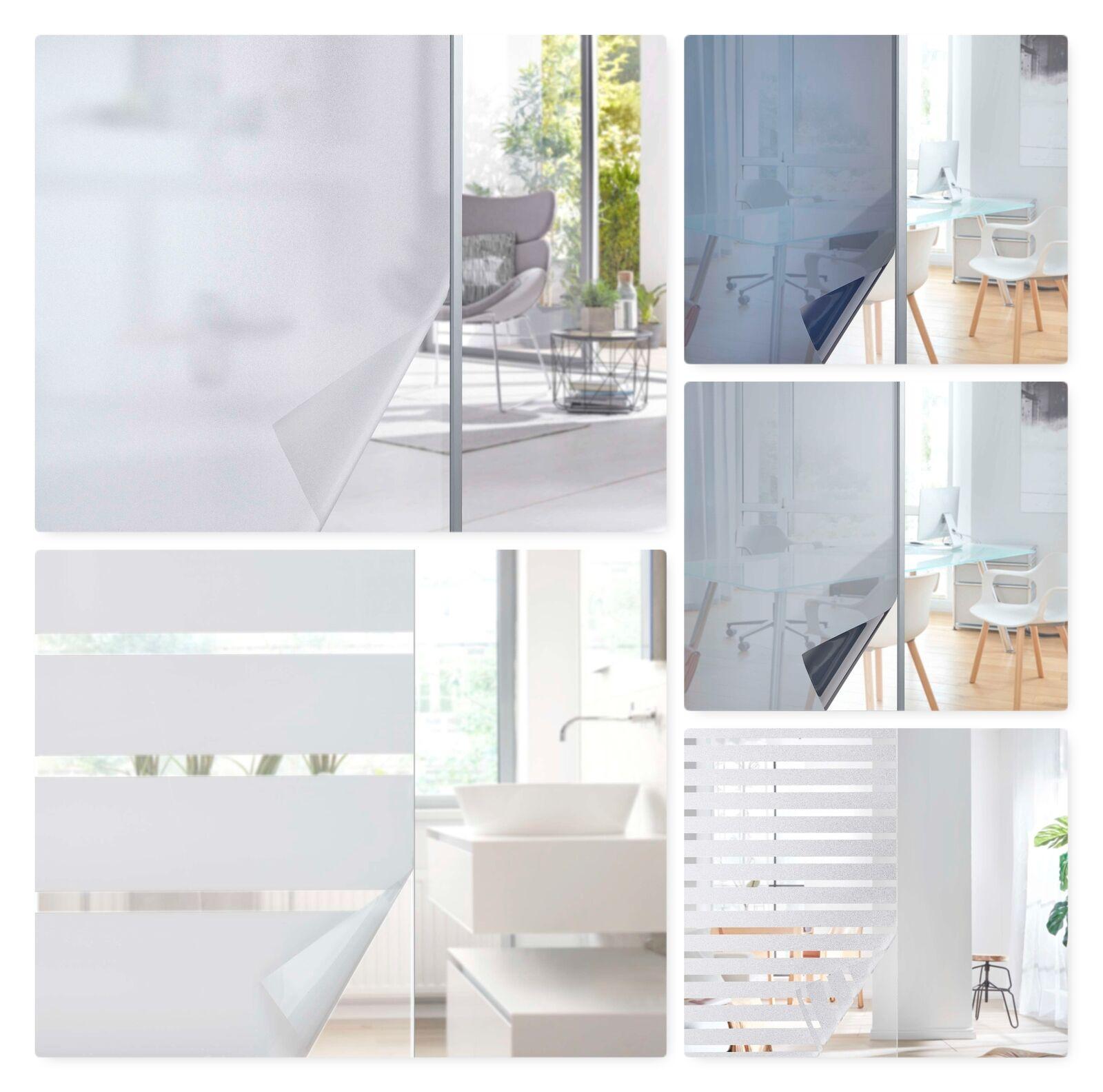 7,45€/m² Fensterfolie selbsthaftend Sichtschutzfolie UV Schutz statische Haftung