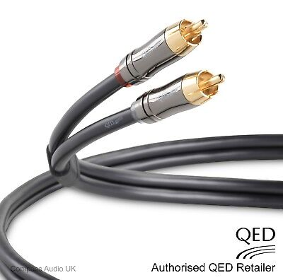 QED Performance AUDIO 1.0m Stereo Pair Graphite RCA Phono Interconnect Cables for sale  Shipping to Ireland