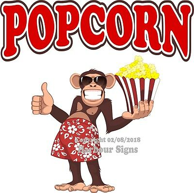 Popcorn Decal Choose Your Size Monkey Concession Food Truck Vinyl Sticker