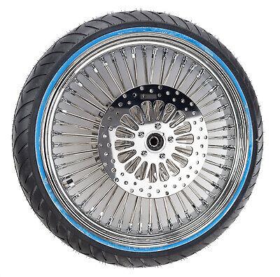 21 3.5 52 Mammoth Fat Spoke Wheel Rim Chrome WWW Tire Package Harley Touring OB