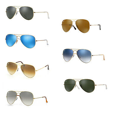 Ray Ban Aviator Sunglasses: Your choice of color and size Ray Ban Color