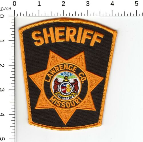 LAWRENCE COUNTY SHERIFF MISSOURI MO POLICE SHOULDER PATCH