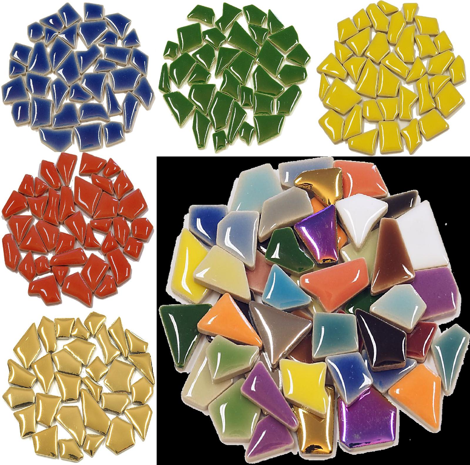 Grau gemischt 20 mm Mosaikfliesen zum Basteln aus Murrini-Glas
