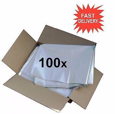 100x CLEAR Refuse Sacks Bin Liner Rubbish Scrap Waste Bag 150g - 18 X 29 X 39