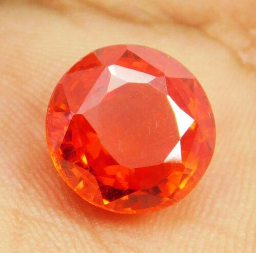 Natural Red Garnet Spessartine 9.65 Ct Round Shape Loose Gemstone Bright Color