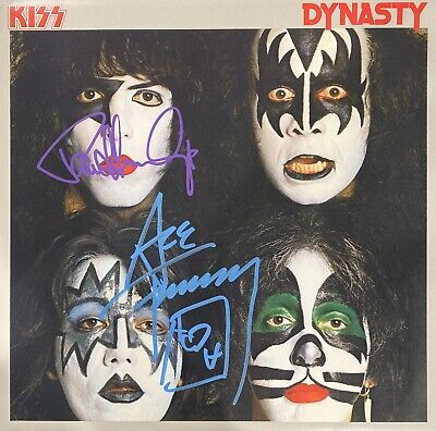 KISS Signed Album Ace Frehley Paul Stanley Autographed Vinyl Dynasty (Simmons)