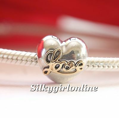 Authentic Pandora Heart Of Love Clip Sterling Silver and 14K Charm 791735