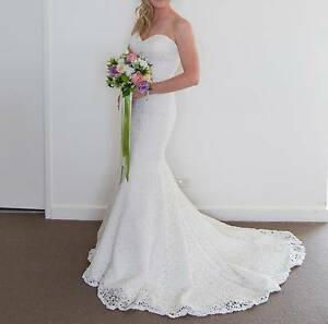 Wedding Dress - Mia Solano 'Brighton' Strapless Ivory Lace Size10 Winmalee Blue Mountains Preview