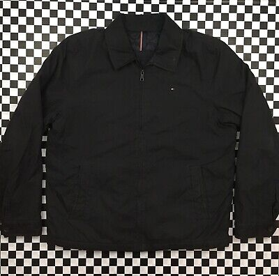 Tommy Hilfiger Full Zip Up Lined Casual Softshell Jacket Coat Mens XL Black