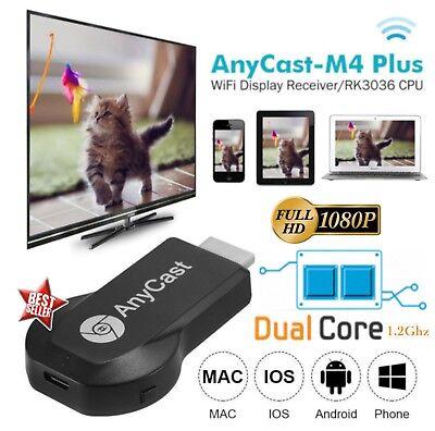 CHROMECAST ANYCAST TV MIRACAST HDMI DONGLE MEDIA VIDEO STREAMER AIRPLAY WIFI IOS