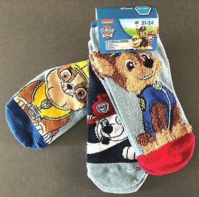3 Paar Paw Patrol Kinder Socken Sneaker Strümpfe Jungen Hunde Bunt 31-32-33-34