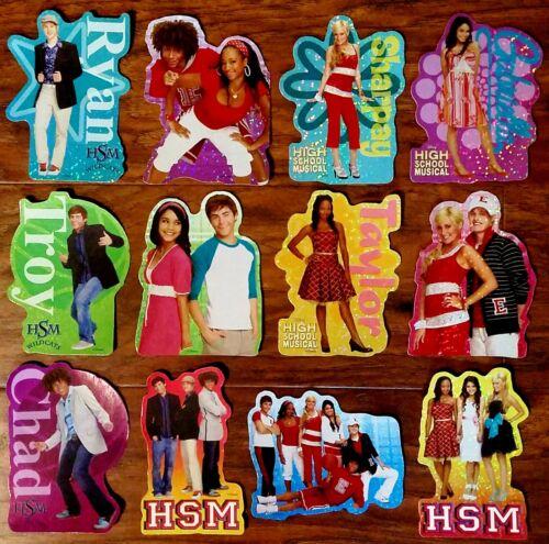 High School Musical Stickers - New FULL SET OF 12 Disney Vending Machine Decals