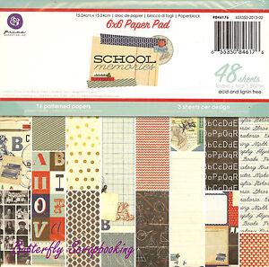 High School Scrapbook Paper