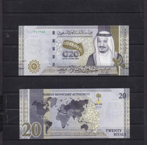 SAUDI ARABIA,2020.(20 RIYALS G20)UNCIRCULATED.(REF 3)