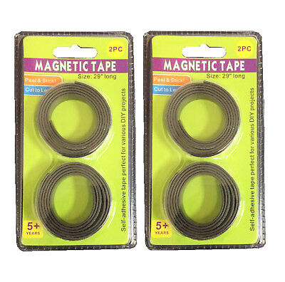 2pack 29 Long Magnetic Tape Self-adhesive Tape Perfect For Various Diy Projects
