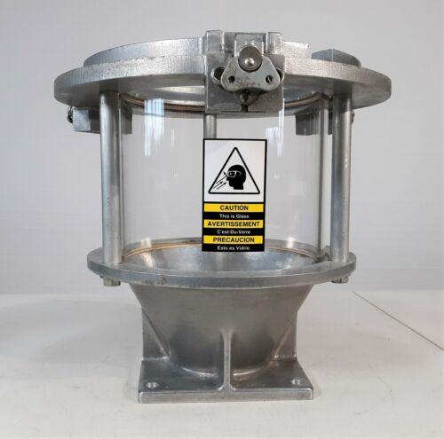 "Conair 105-423-07 Direct Feed Glass Hopper, 8"" ID, 0.21 cu.ft. Capacity Chamber"