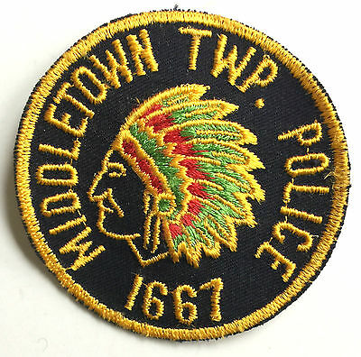 MIDDLETOWN TWP NEW JERSEY POLICE DEPT, COLORFUL SHOULDER PATCH ~ NEW CONDITION