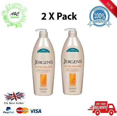 Jergens Ultra Healing Lotion Moisturise Nourishes & Heal 21oz ( 2 X Pack )