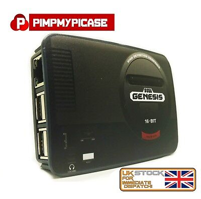 Raspberry Pi 3 case Retro style gaming Sega Genesis (Use with Retropie or Kodi)