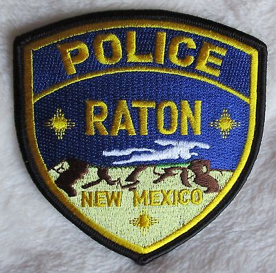 "Raton Police Dept Shoulder Patch - New Mexico - 3 7/8"" x 4"""