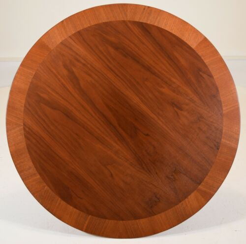 coffee table by T.H. Robsjohn Gibbings for Widdicomb vintage walnut round