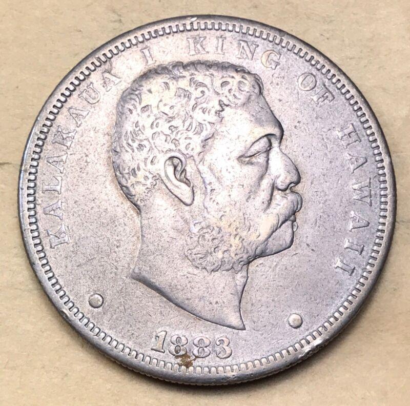 1883 Hawaiian Dollar  XF/AU