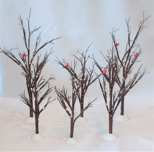 """Department 56 Set of 6 """"Village Bare Branch Trees"""" #52623 For All Villages"""