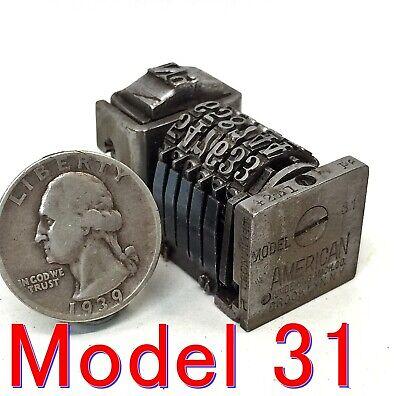 Vintage Letterpress Numbering Machine American Model 31 6 Digit Forward Count