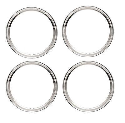"Stainless 14"" Rim Trim Ring Wheel Rings Tire Wheel Steel Trim - SET of 4"