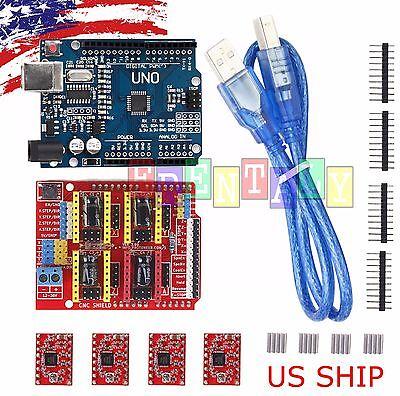 CNC kit #1 UNO R3 ATmega328P CH340G & Shield & 4X A4988 Drivers for Arduino