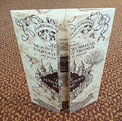 The Marauders Map Hogwarts School Of Witchcraft   Wizardry   Harry Potter  New