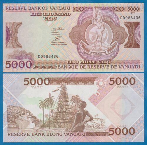 Vanuatu 5000 Vatu P 15 ND (2006) UNC Prefix DD Sign 5, Low Shipping! Combine!