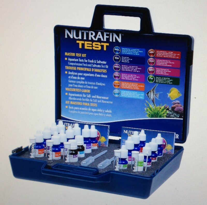 Nutrafin Master Water Test Kit, Contains 10 Test Parameters