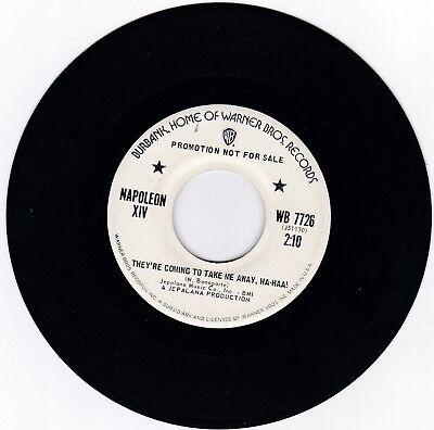 NAPOLEON XIV 45RPM - ON WARNER BROS - RARE PROMO!  HIT RECORD!  BEAUTIFUL COPY!