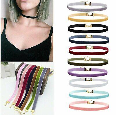 Choker Necklace Black Velvet Classic Women Dress Jewelry Chain Collar US Fashion Jewelry