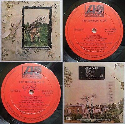 LED ZEPPELIN IV 1975 UNIQ NON-GF CVR UNIQ ALBUM TITLE MEGARARE CHILEAN 1ST PRESS comprar usado  Enviando para Brazil